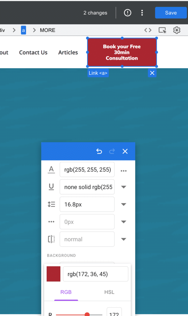 Google Optimized Editor Colour Editor